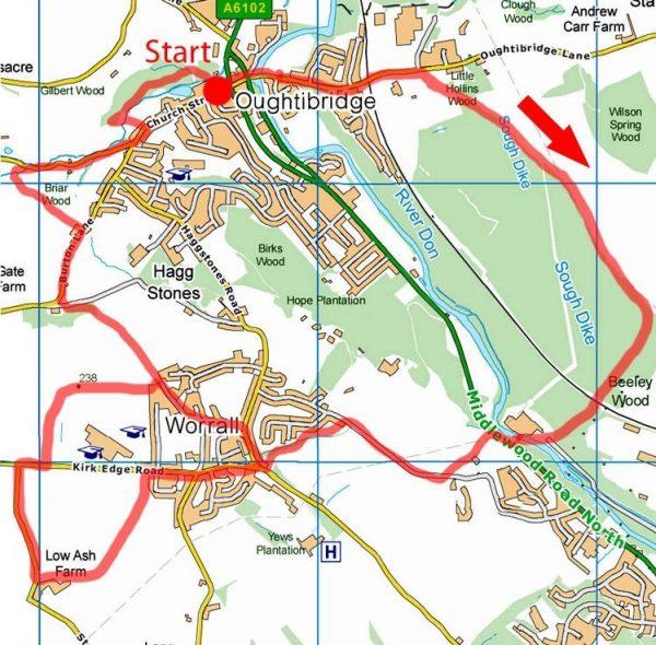 Beeley Woods walk map