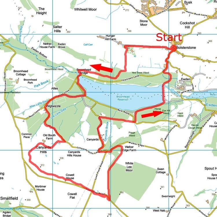 Canyards map