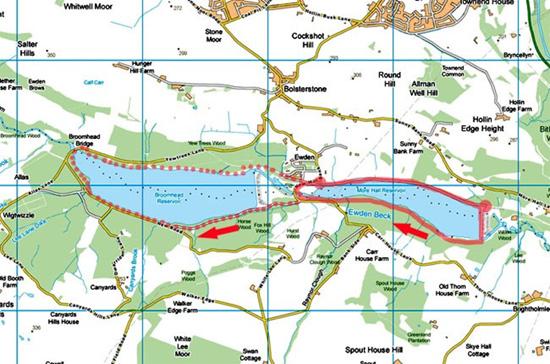 Ewden Valley map