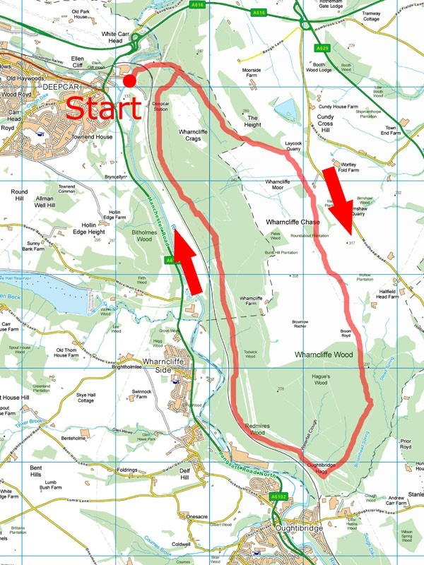 Wharncliffe Chase map