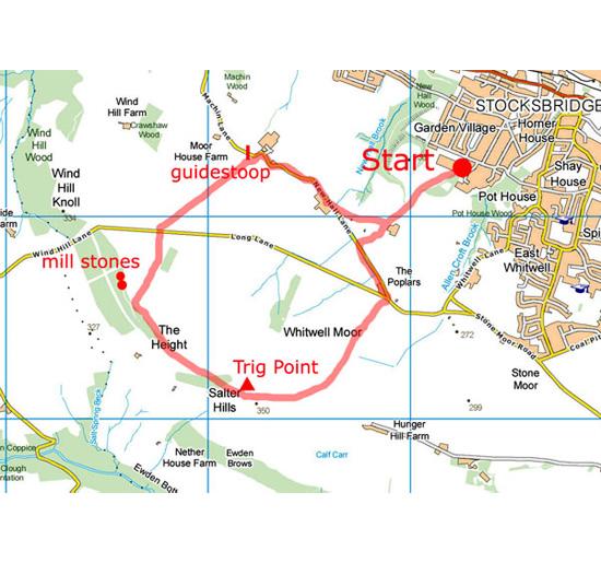 Whitwell Moor walk map