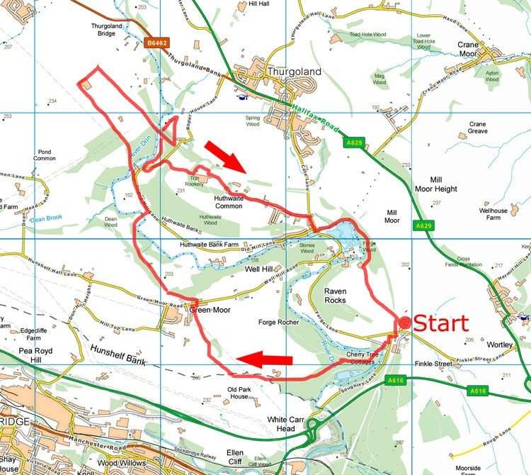 Green Moor walk map
