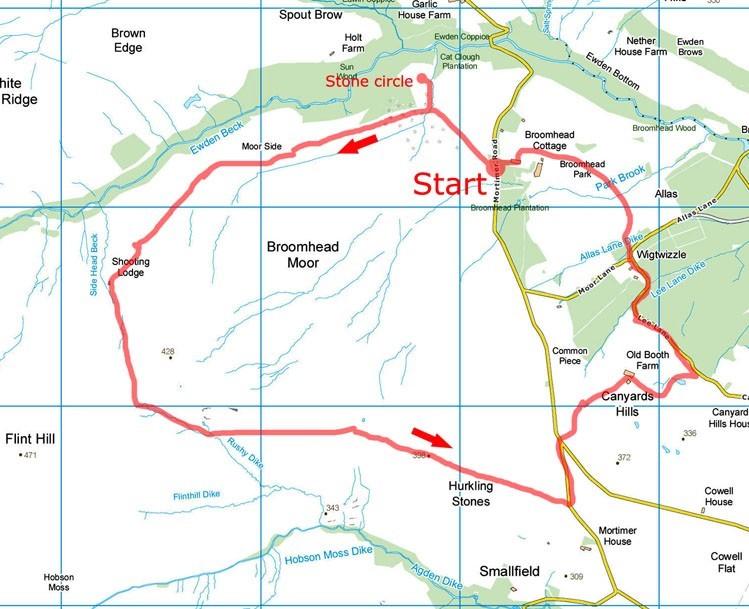 Broomhead Moor map
