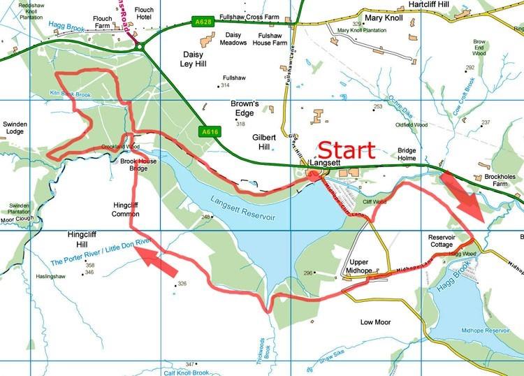 Langsett Reservoir map