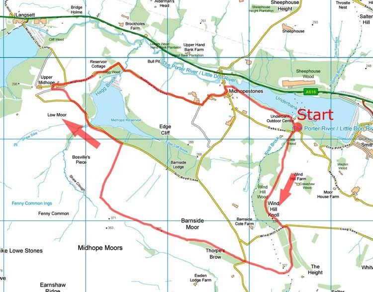 Midhope Moor map