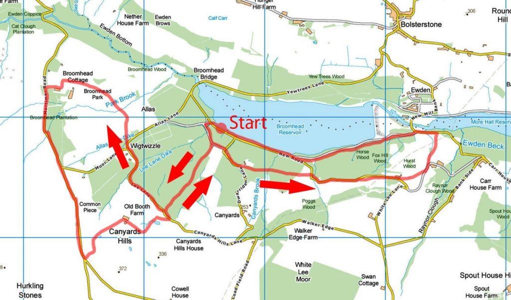 Wigtwizzle Bridleway map