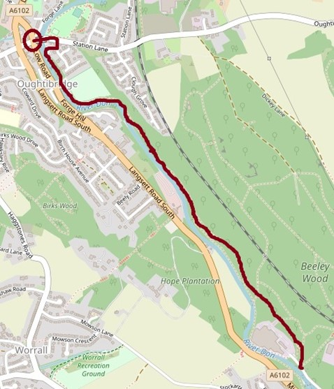 Beeley Woods route map