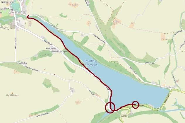 Damflask south map