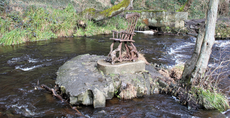 chair on a rock