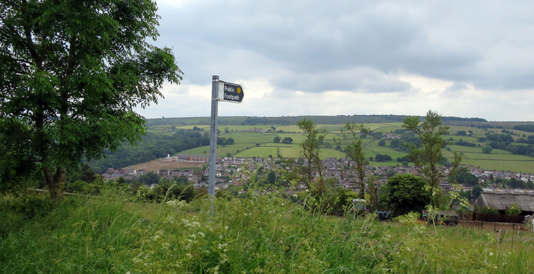 View from above Stocksbridge