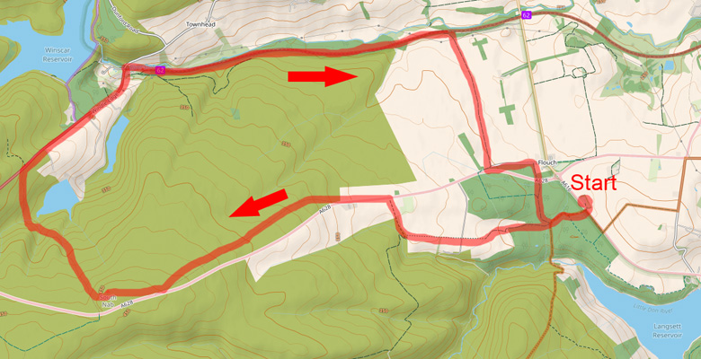 Dunford Bridge Map